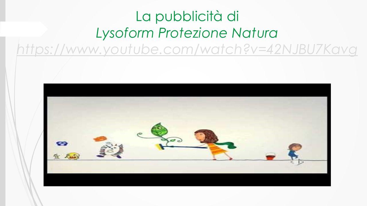 La pubblicità di Lysoform Protezione Natura https://www. youtube