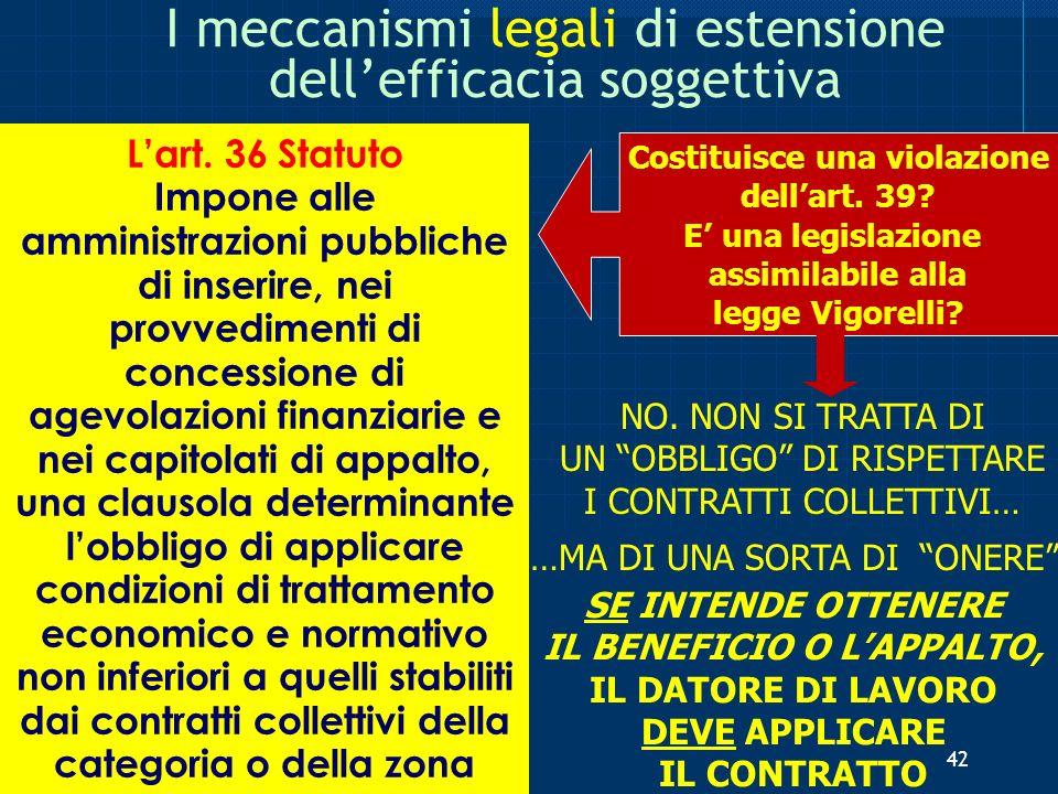I meccanismi legali di estensione dell'efficacia soggettiva