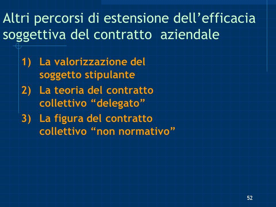 Altri percorsi di estensione dell'efficacia soggettiva del contratto aziendale