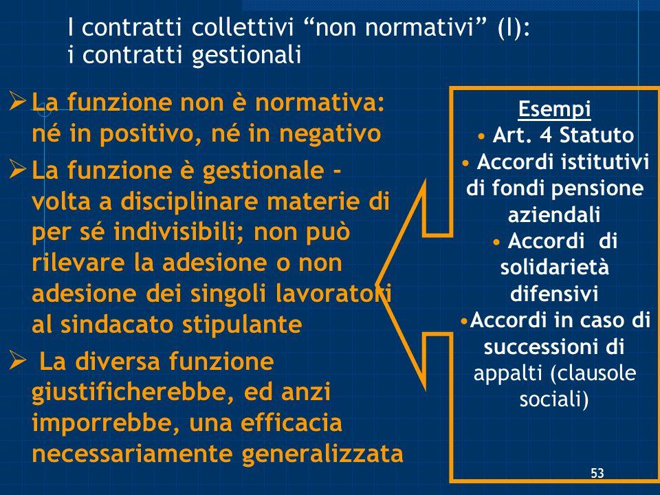I contratti collettivi non normativi (I): i contratti gestionali