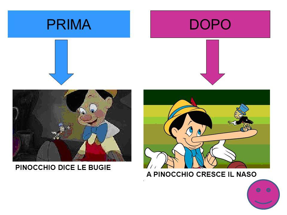 PRIMA DOPO PINOCCHIO DICE LE BUGIE A PINOCCHIO CRESCE IL NASO