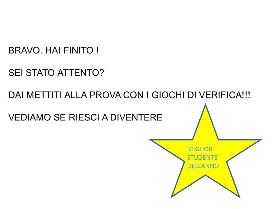 DAI METTITI ALLA PROVA CON I GIOCHI DI VERIFICA!!!