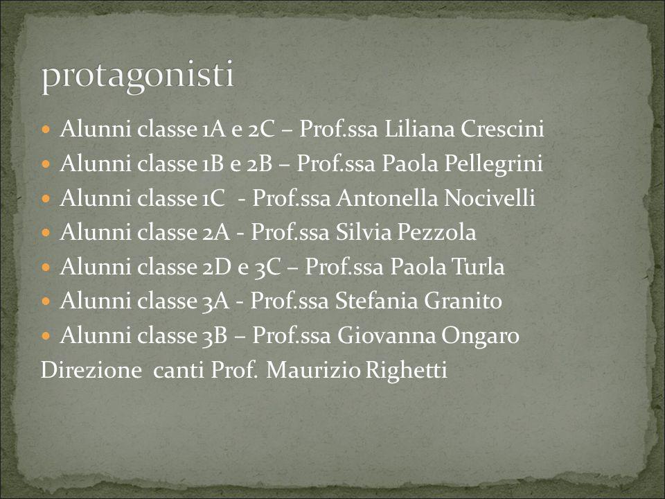 protagonisti Alunni classe 1A e 2C – Prof.ssa Liliana Crescini