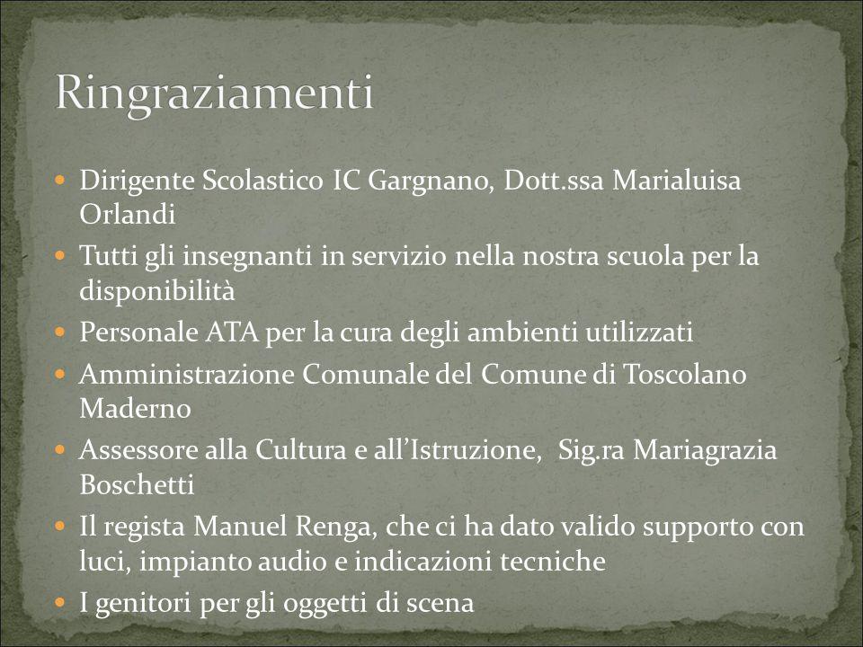 Ringraziamenti Dirigente Scolastico IC Gargnano, Dott.ssa Marialuisa Orlandi.