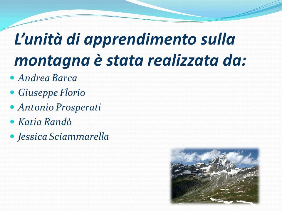 L'unità di apprendimento sulla montagna è stata realizzata da: