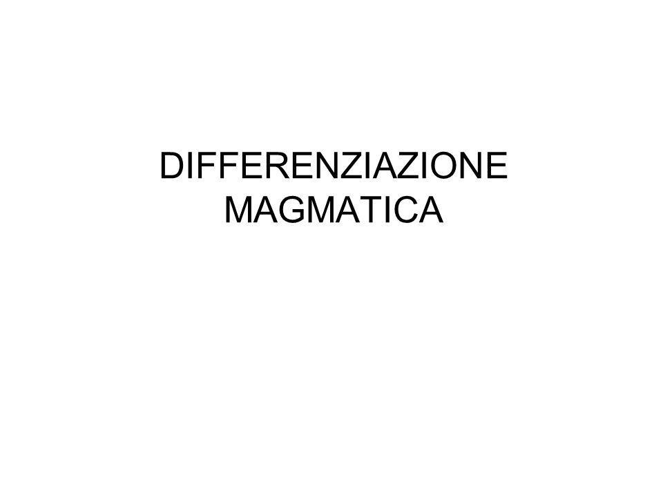 DIFFERENZIAZIONE MAGMATICA