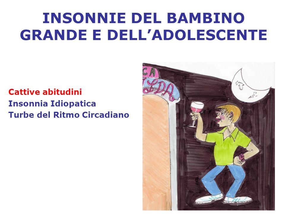 INSONNIE DEL BAMBINO GRANDE E DELL'ADOLESCENTE