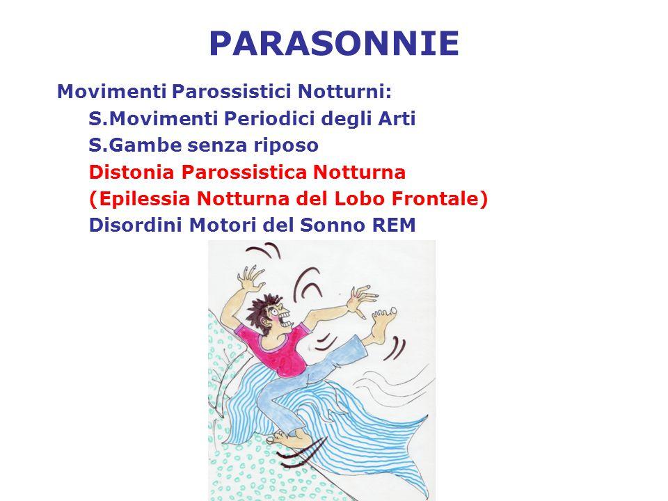 PARASONNIE Movimenti Parossistici Notturni: