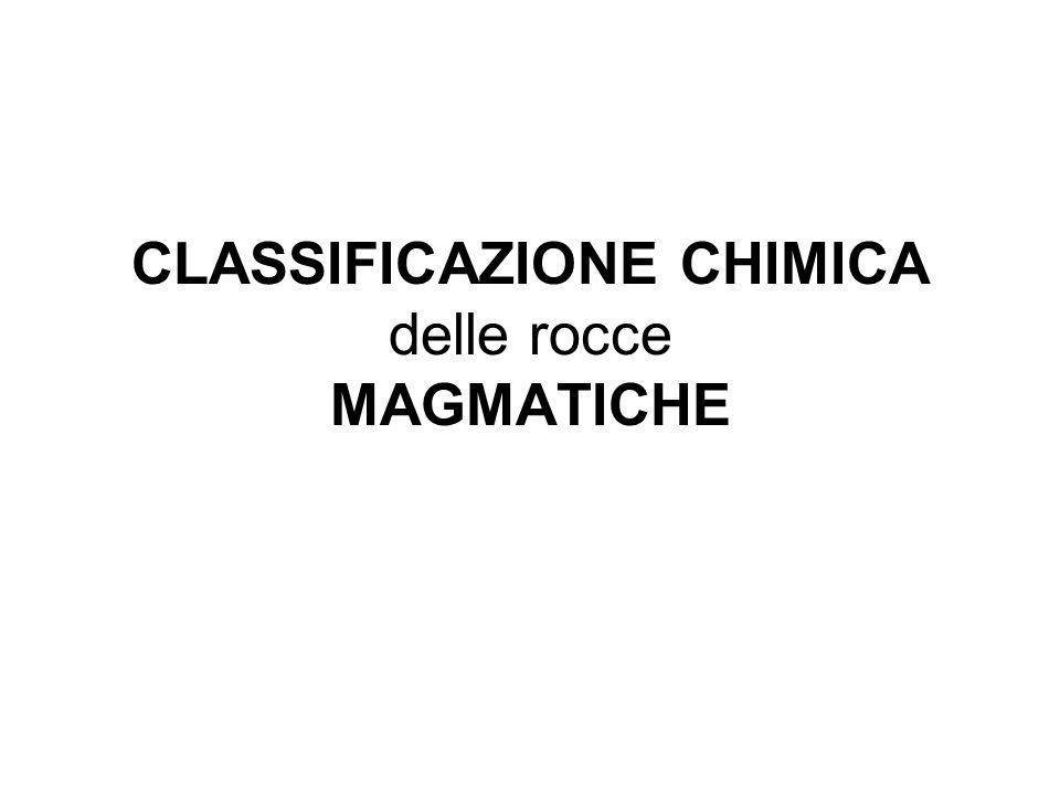 CLASSIFICAZIONE CHIMICA delle rocce MAGMATICHE