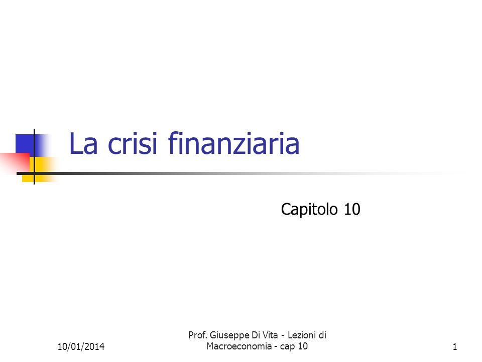 Prof. Giuseppe Di Vita - Lezioni di Macroeconomia - cap 10