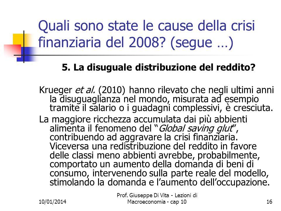Quali sono state le cause della crisi finanziaria del 2008 (segue …)