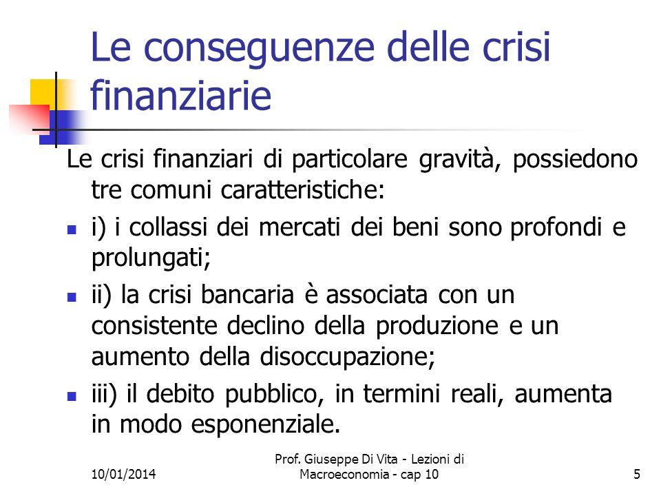 Le conseguenze delle crisi finanziarie