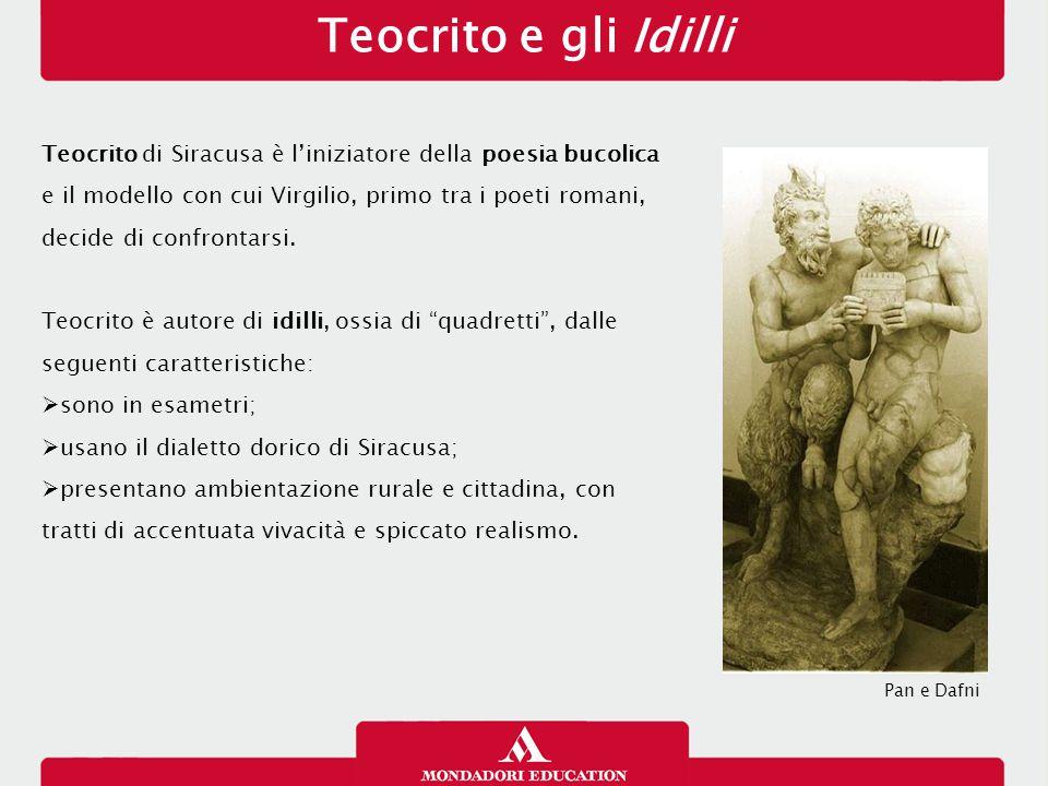Teocrito e gli Idilli 13/01/13. Teocrito di Siracusa è l'iniziatore della poesia bucolica. e il modello con cui Virgilio, primo tra i poeti romani,