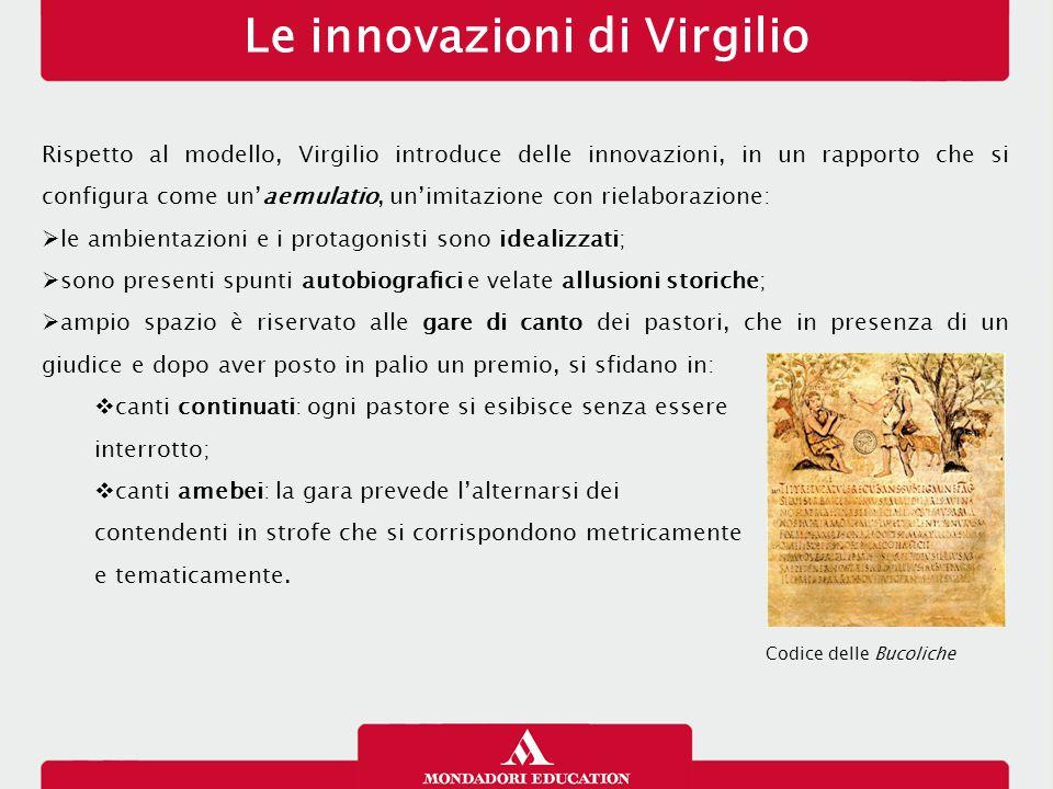 Le innovazioni di Virgilio