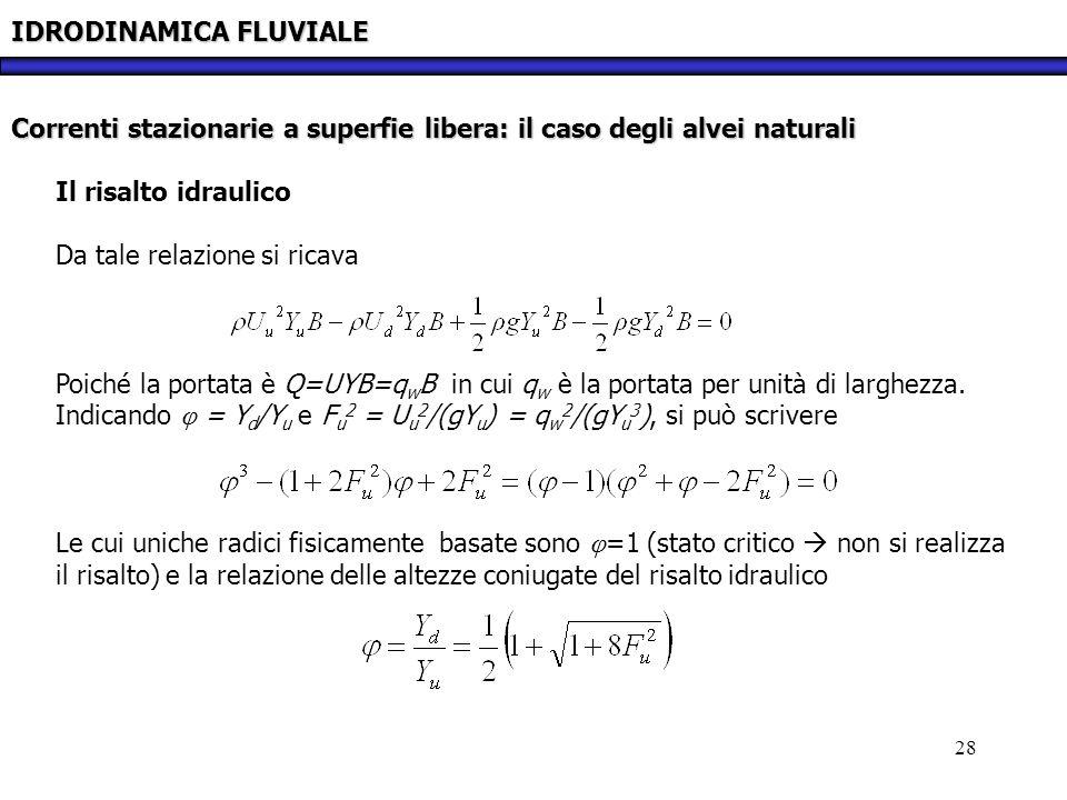 IDRODINAMICA FLUVIALE