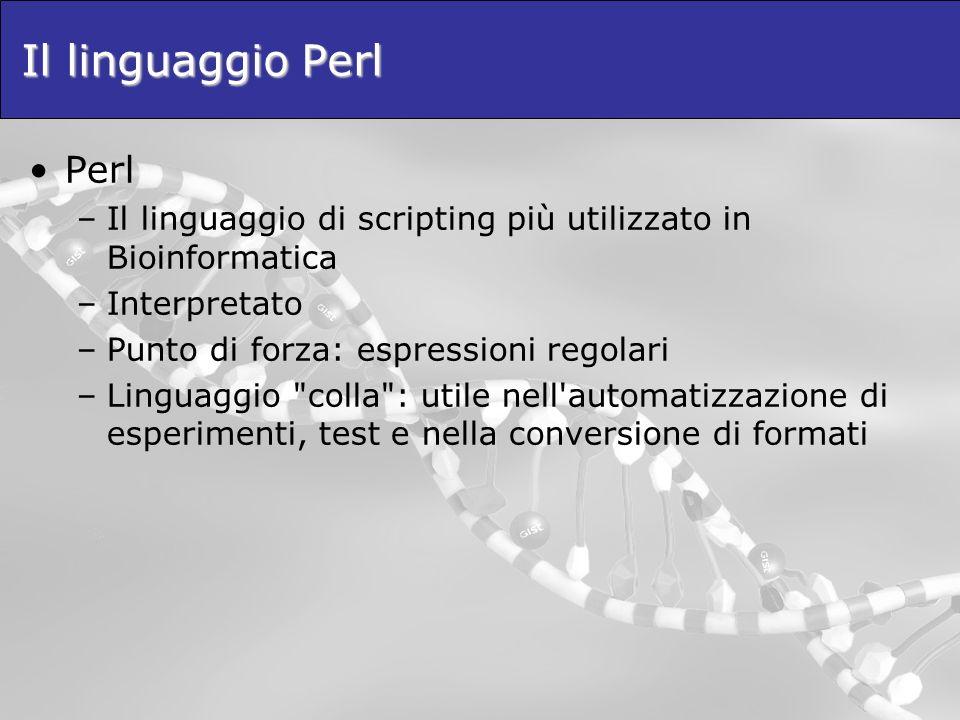 Il linguaggio Perl Perl