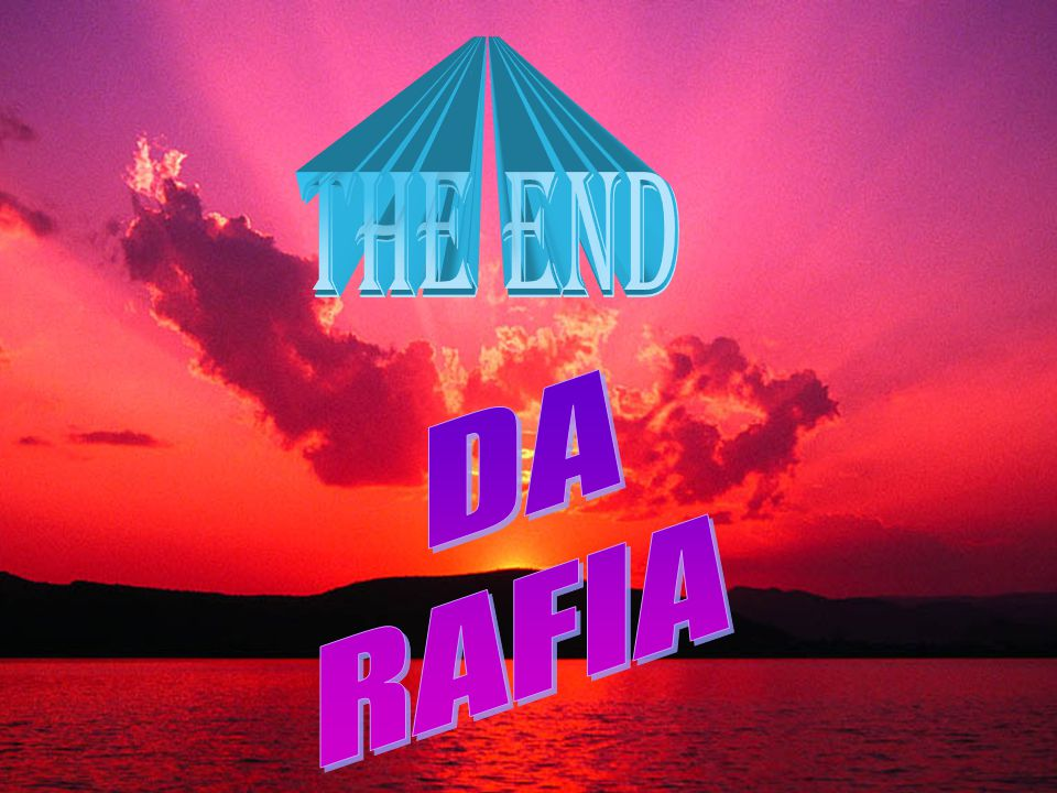 THE END DA RAFIA ANNI