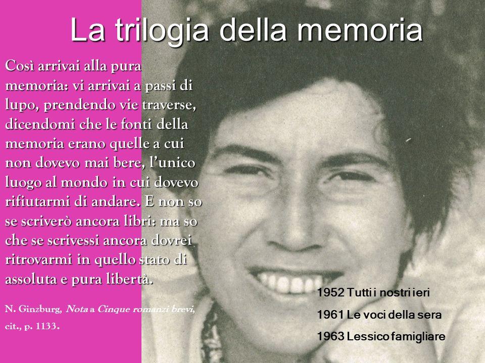 La trilogia della memoria