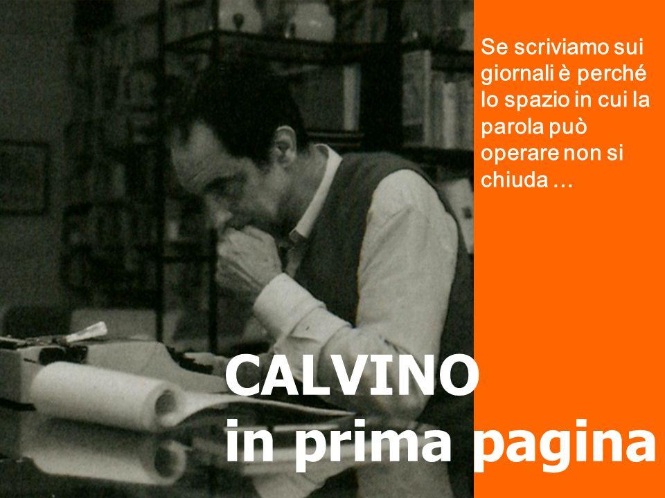 CALVINO in prima pagina