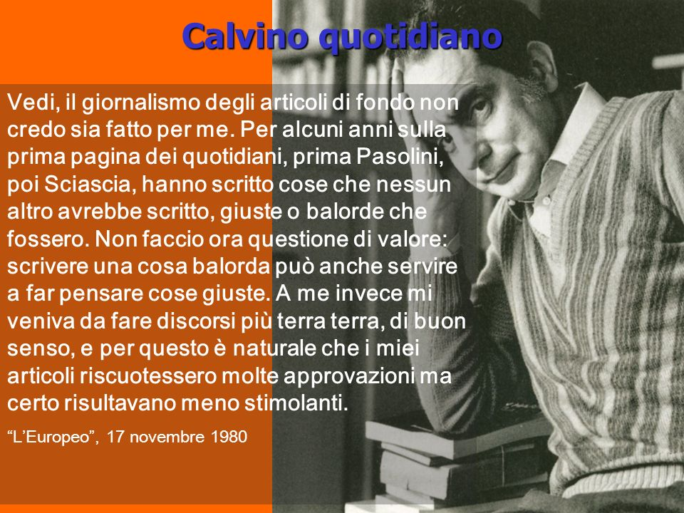 Calvino quotidiano