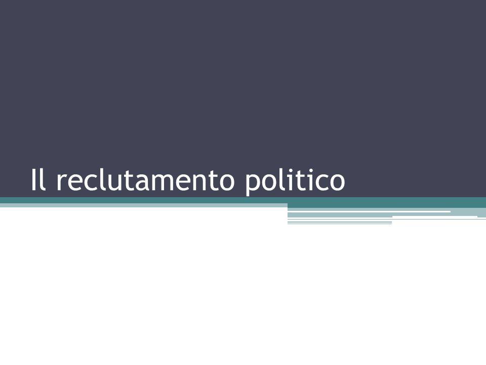Il reclutamento politico