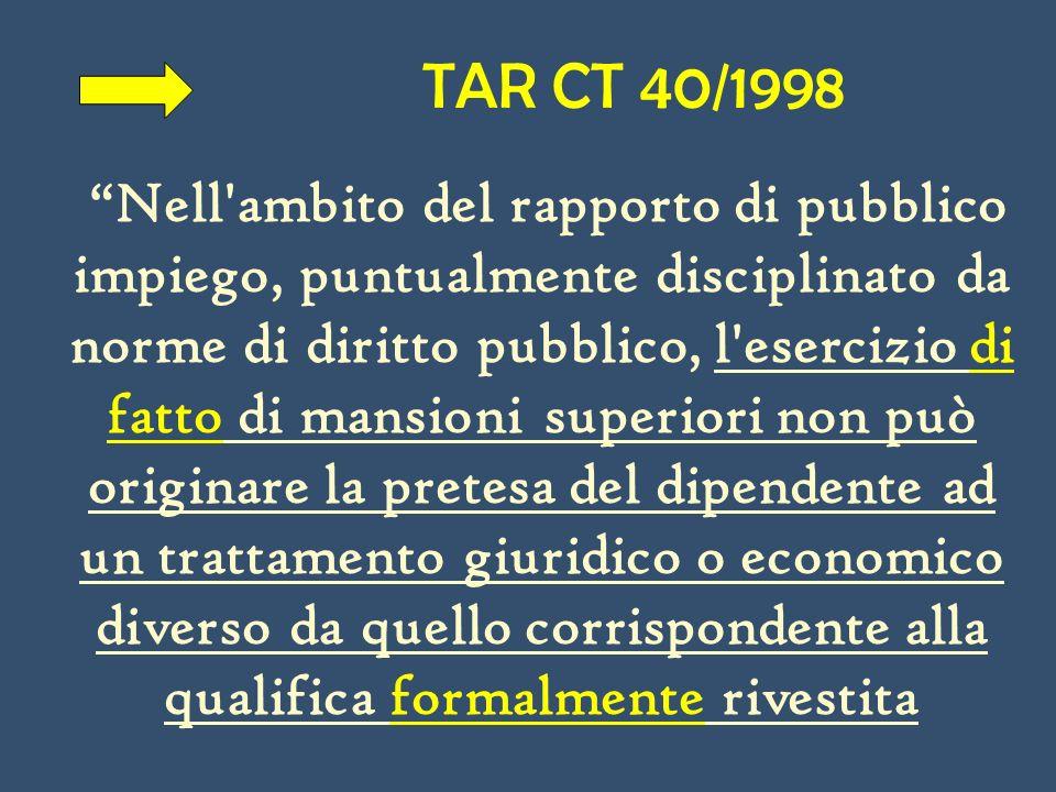 TAR CT 40/1998