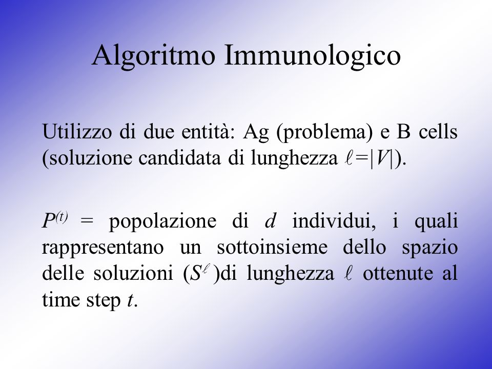 Algoritmo Immunologico