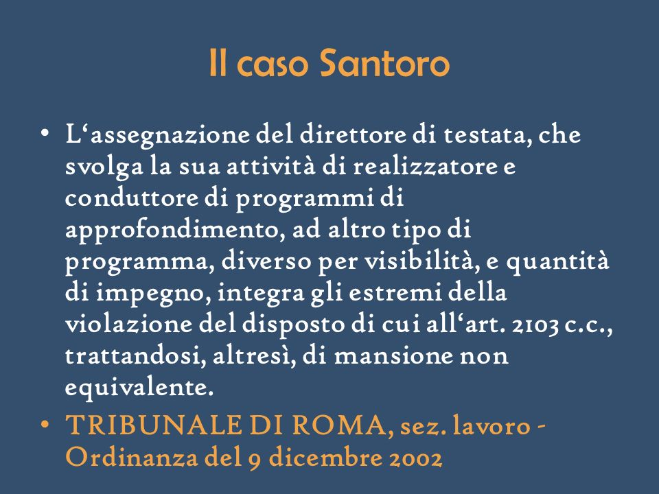 Il caso Santoro