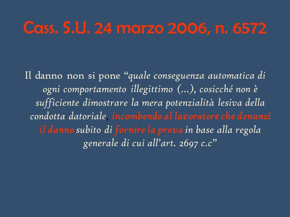 Cass. S.U. 24 marzo 2006, n. 6572