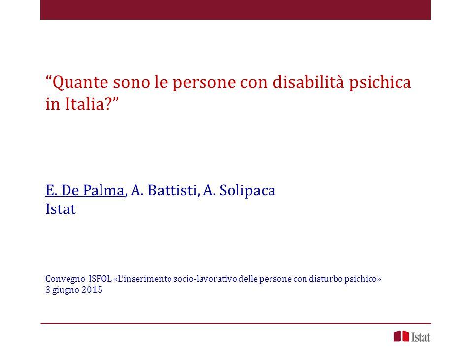 Quante sono le persone con disabilità psichica in Italia
