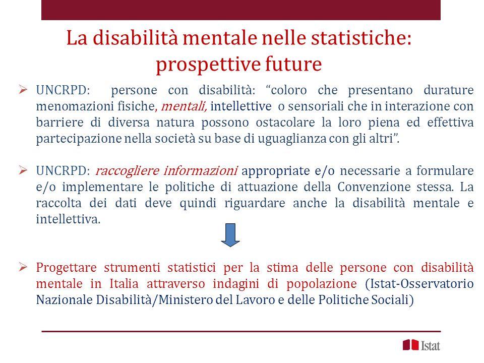 La disabilità mentale nelle statistiche: prospettive future