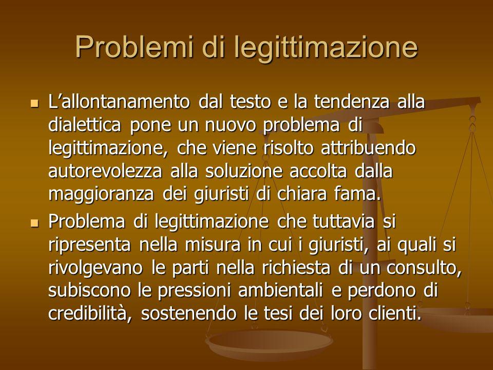 Problemi di legittimazione