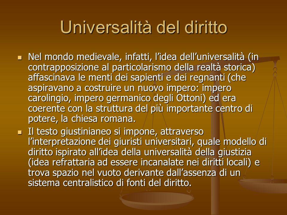 Universalità del diritto