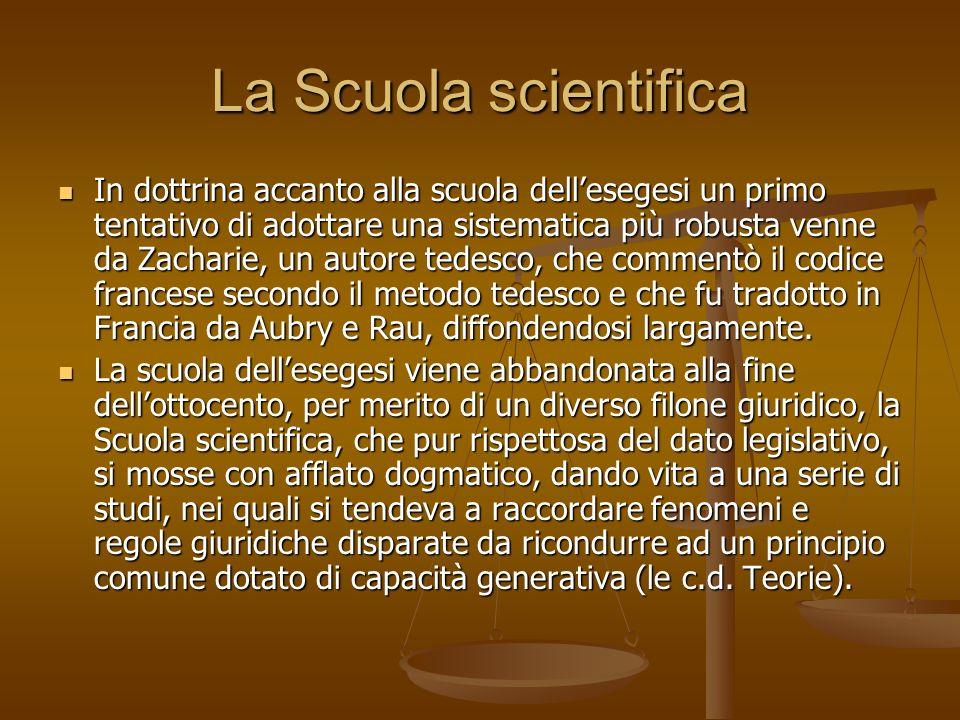 La Scuola scientifica