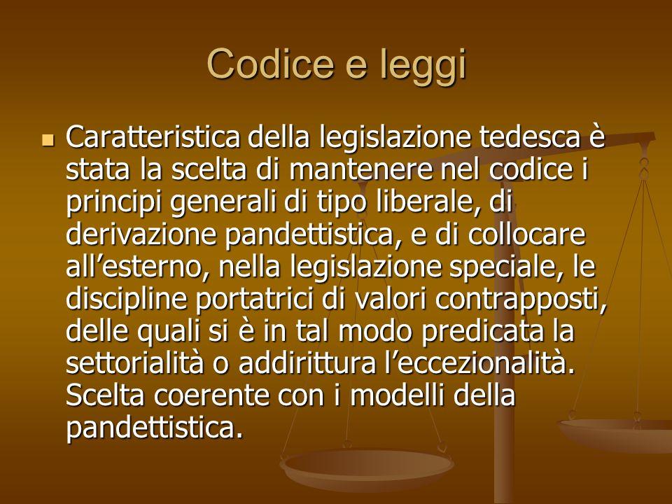 Codice e leggi