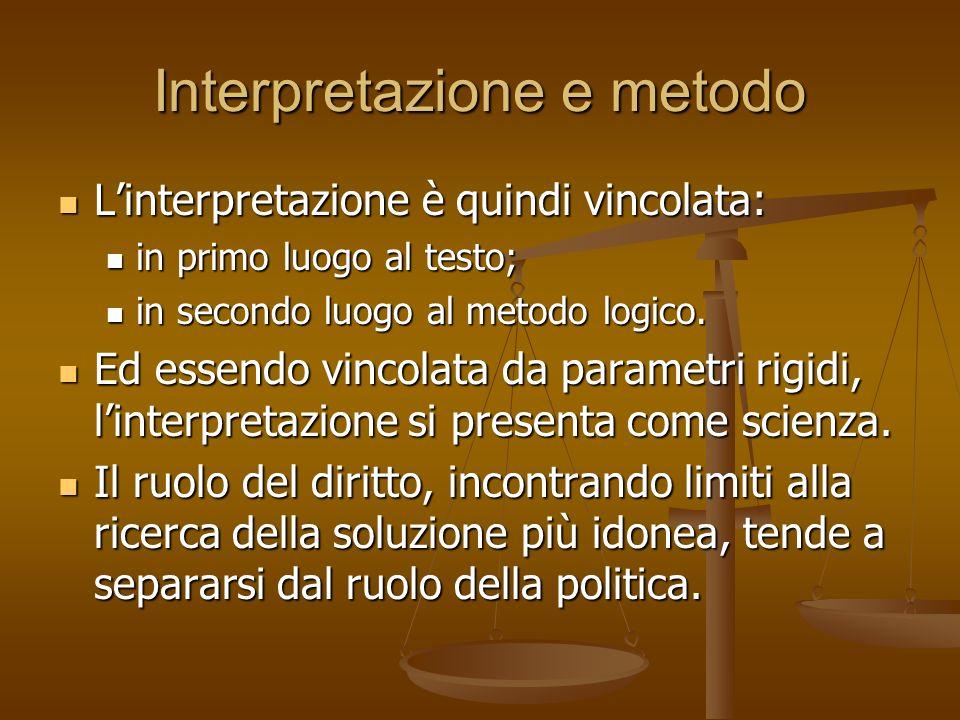 Interpretazione e metodo