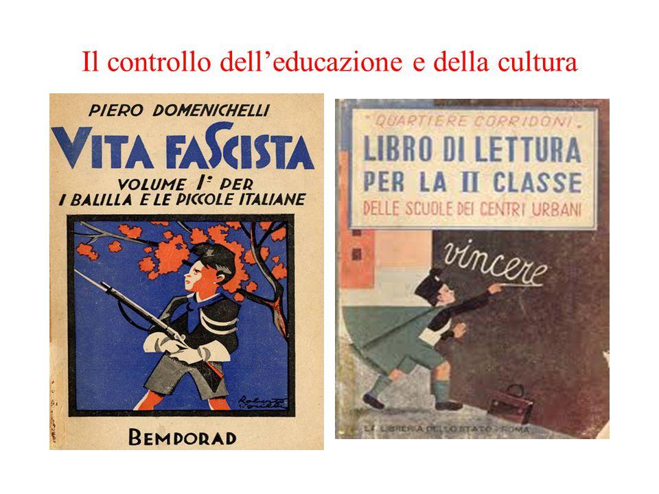 Il controllo dell'educazione e della cultura