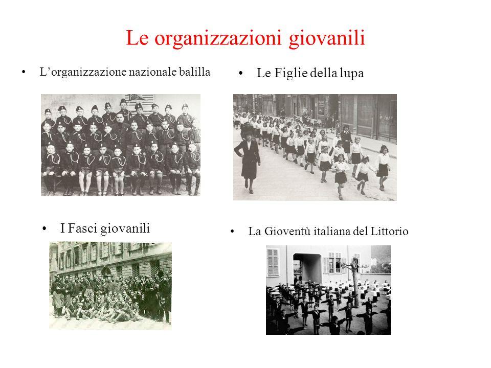 Le organizzazioni giovanili