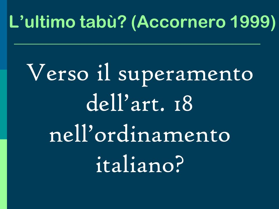 L'ultimo tabù (Accornero 1999)