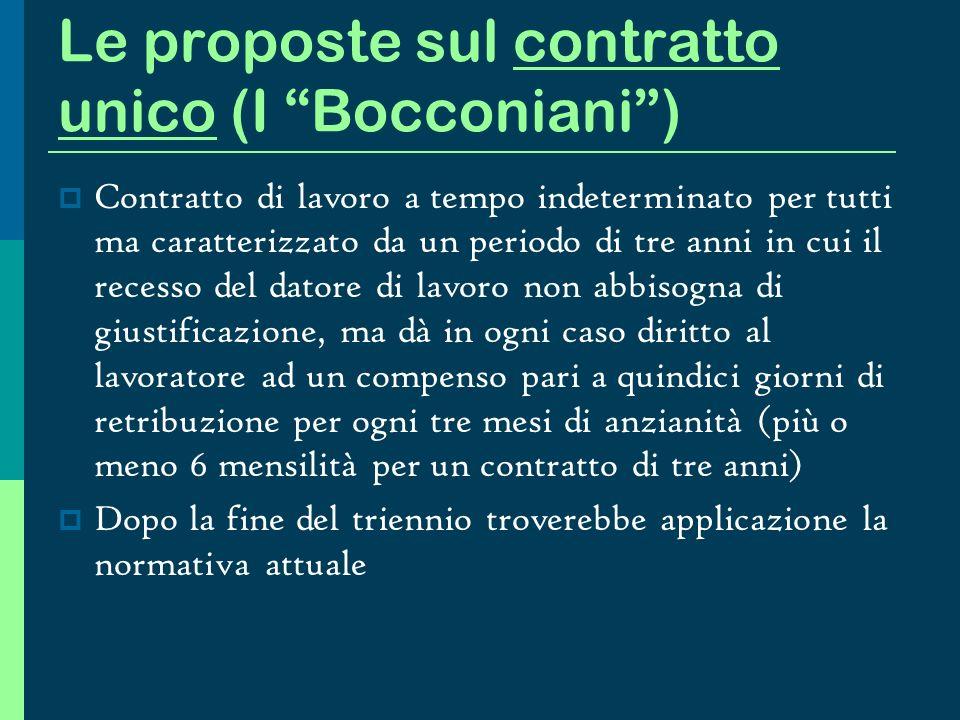 Le proposte sul contratto unico (I Bocconiani )