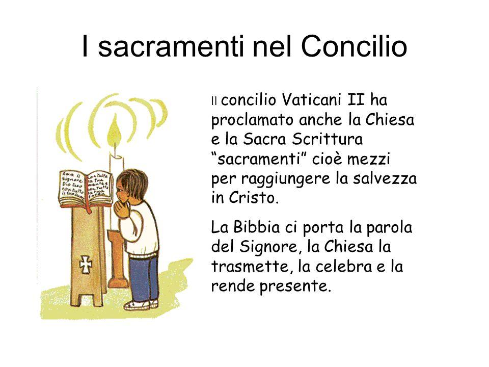 I sacramenti nel Concilio