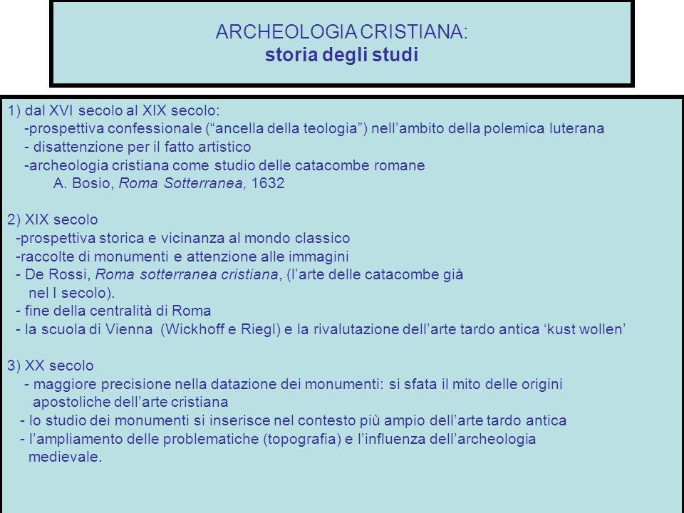 ARCHEOLOGIA CRISTIANA: storia degli studi