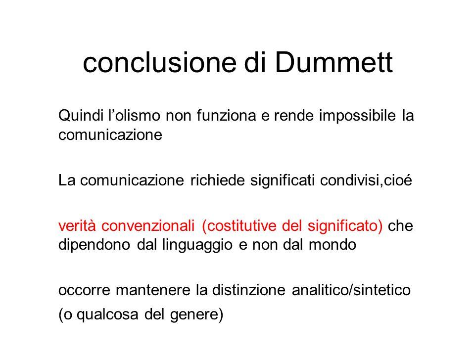 conclusione di Dummett
