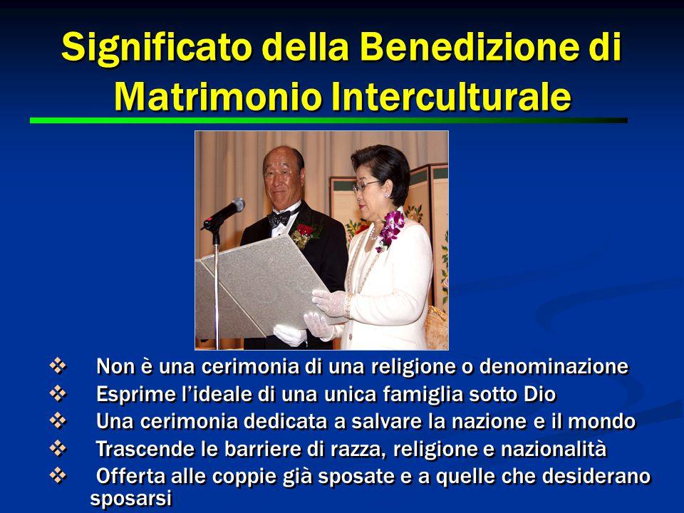 Significato della Benedizione di Matrimonio Interculturale