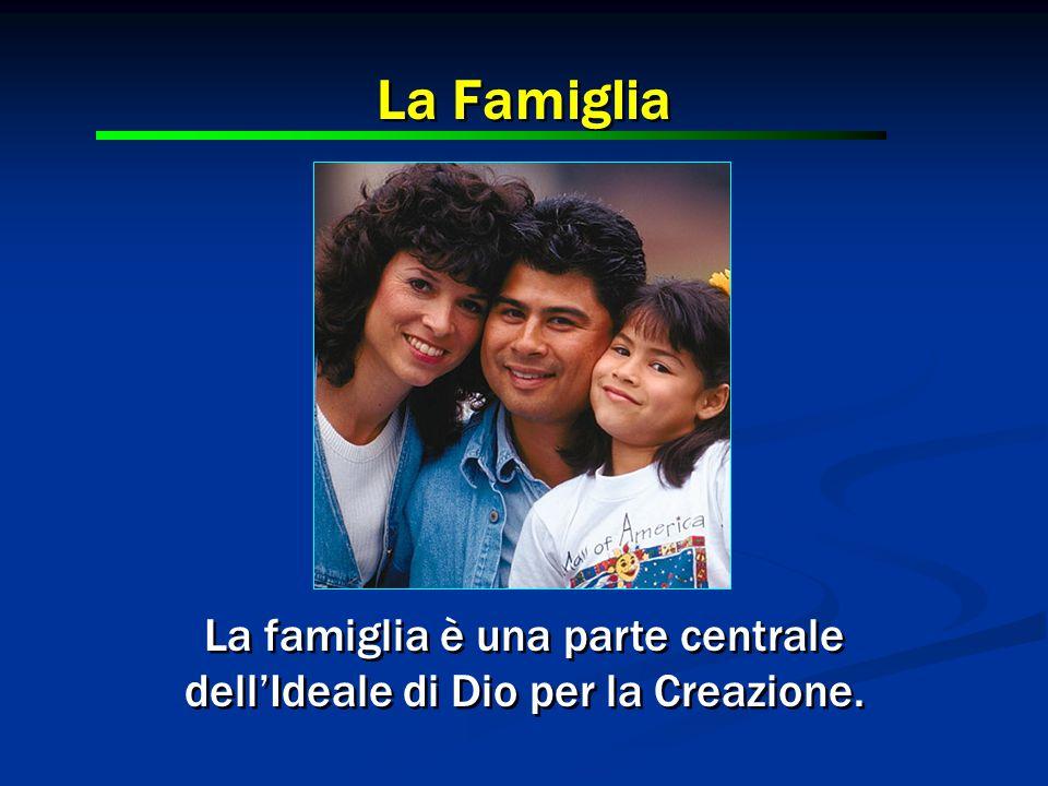 La Famiglia La famiglia è una parte centrale