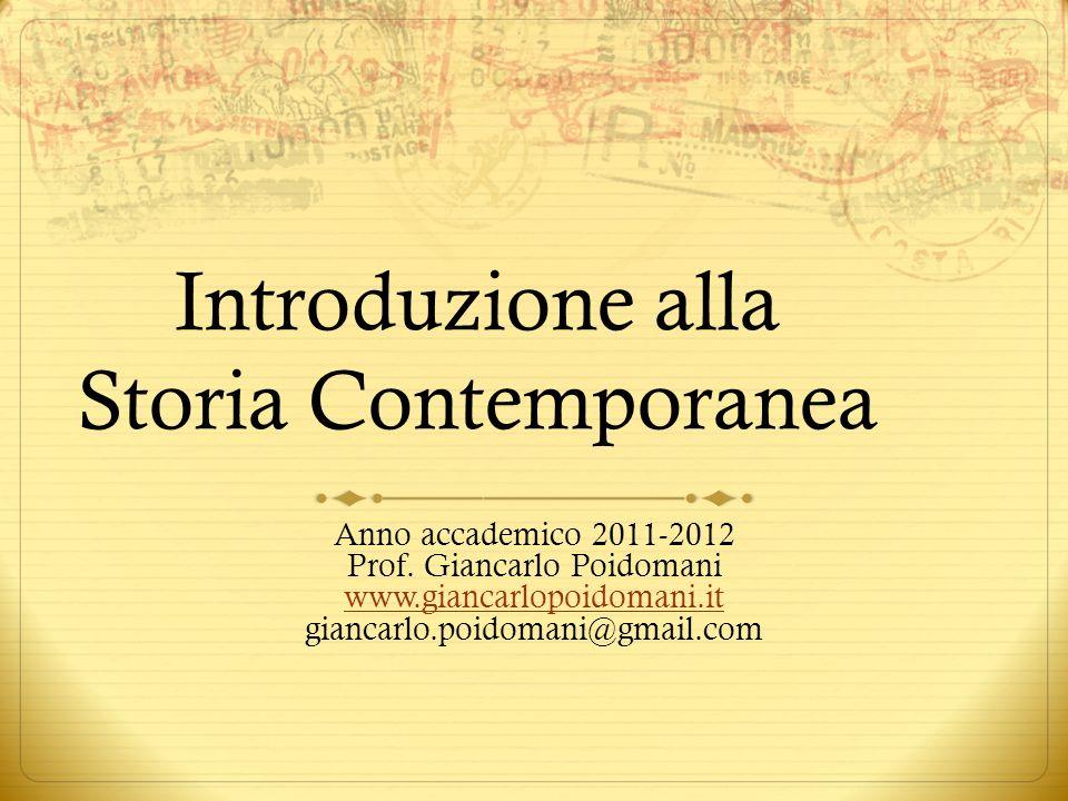 Introduzione alla Storia Contemporanea