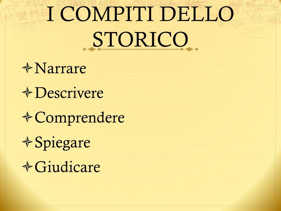 I COMPITI DELLO STORICO