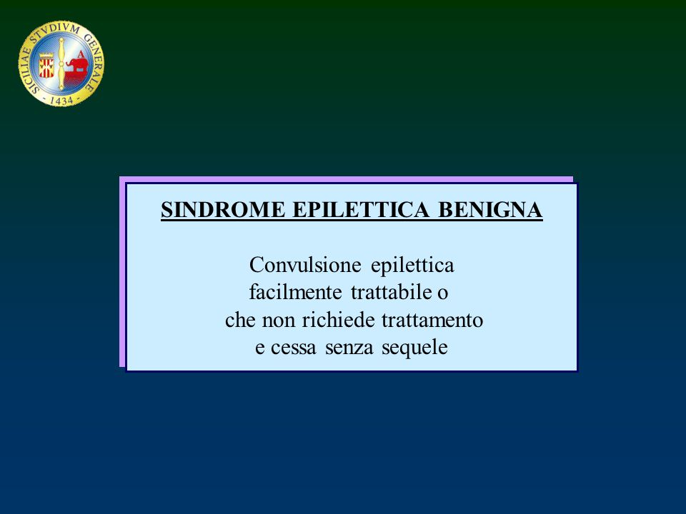 SINDROME EPILETTICA BENIGNA