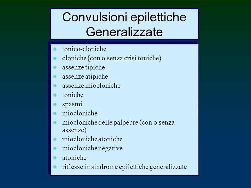 Convulsioni epilettiche Generalizzate
