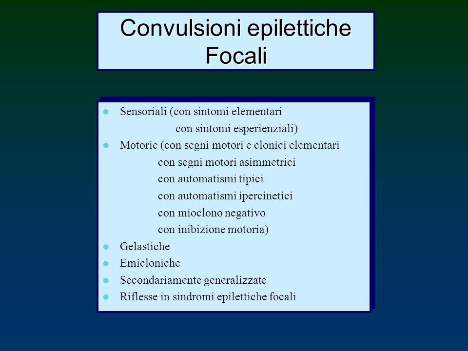 Convulsioni epilettiche Focali